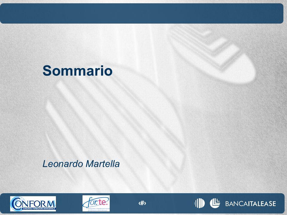 6 Sommario Leonardo Martella