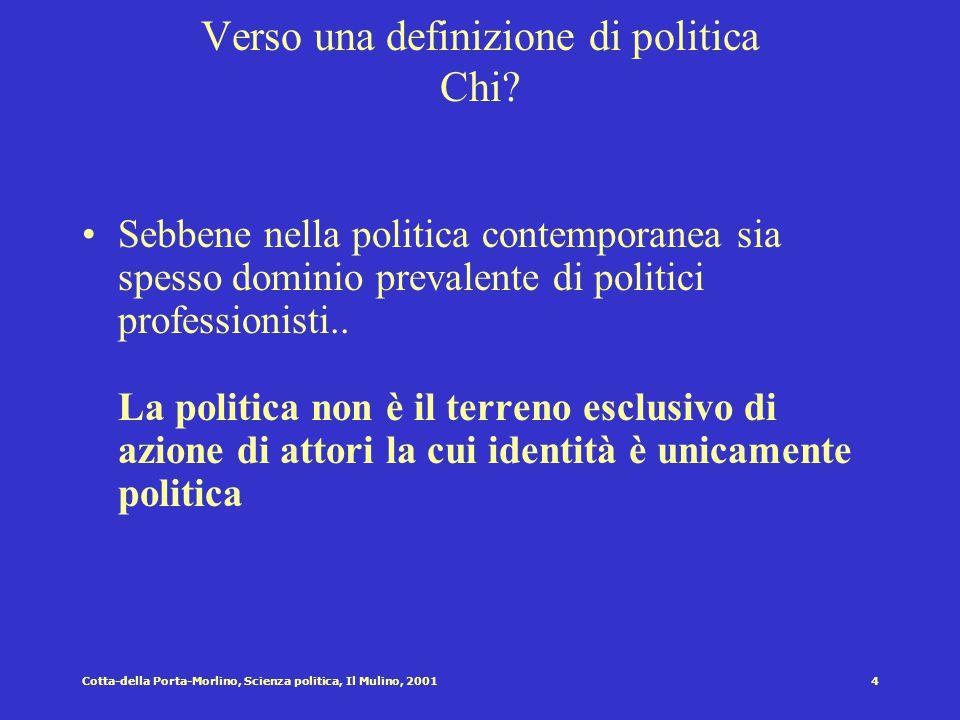 3Cotta-della Porta-Morlino, Scienza politica, Il Mulino, 2001 Definizione di politica : i tentativi contemporanei Carl Schmitt [1932]: la contrapposiz