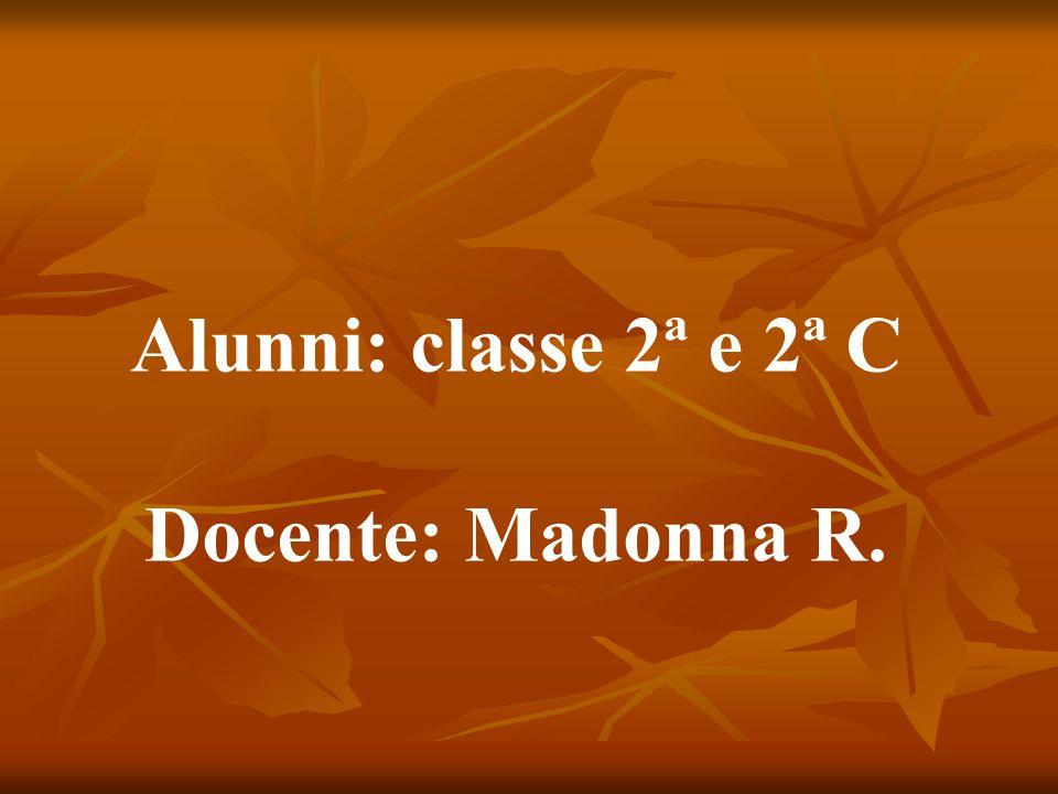 Alunni: classe 2ª e 2ª C Docente: Madonna R.