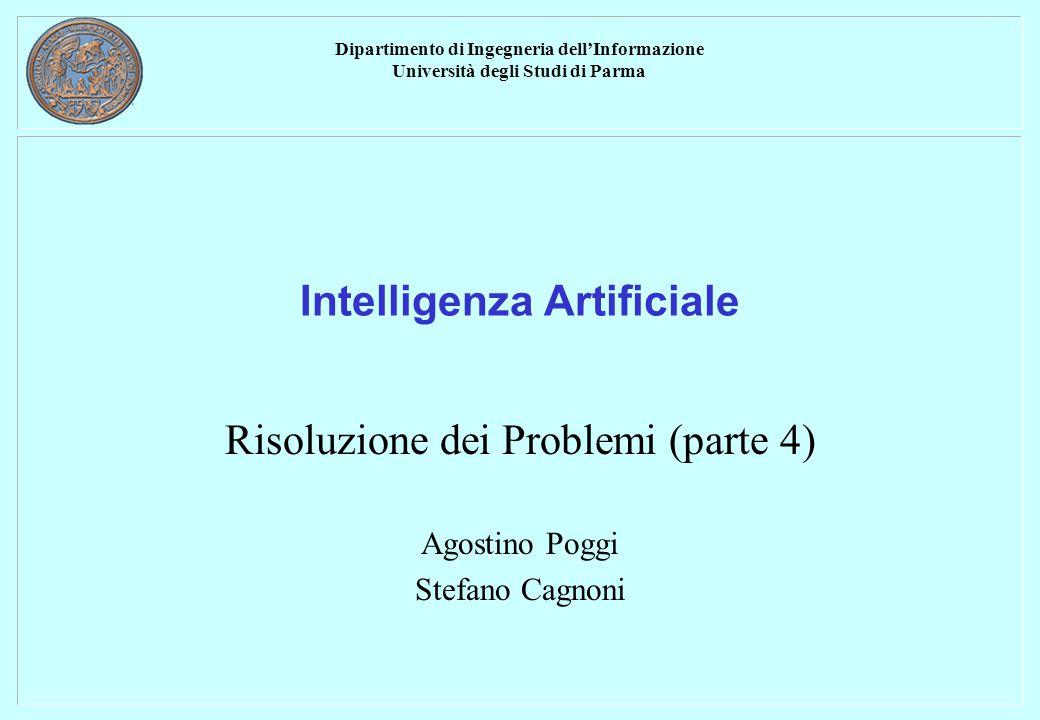 Dipartimento di Ingegneria dell'Informazione Università degli Studi di Parma Intelligenza Artificiale Risoluzione dei Problemi (parte 4) Agostino Poggi Stefano Cagnoni