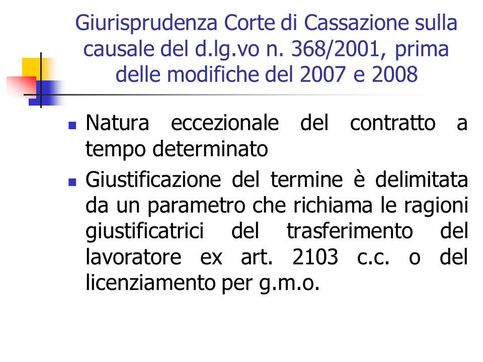 Contratto a termine: causali giustificative Il signor Berti, per il terzo anno consecutivo, viene assunto in qualità di autista dalla società di trasp