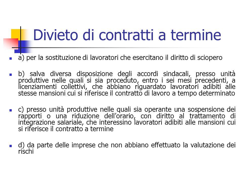 Esenzioni da limiti quantitativi per i contratti conclusi (l.n. 247/2007): nella fase di avvio di nuove attività per i periodi che saranno definiti da