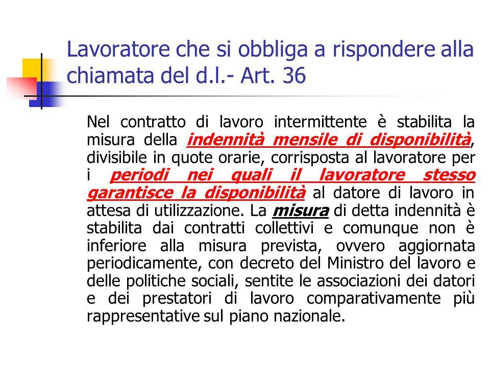 Forma – Art. 35 Segue: indicazione delle forme e modalit à, con cui il datore di lavoro è legittimato a richiedere l ' esecuzione della prestazione di