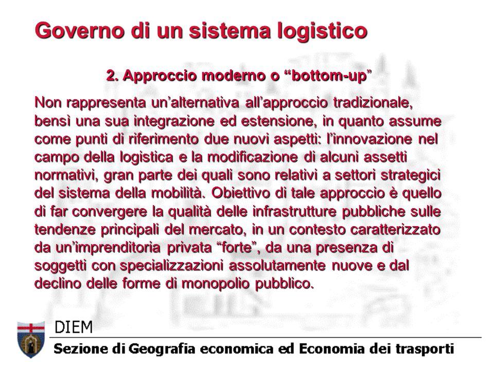 Governo di un sistema logistico 2.