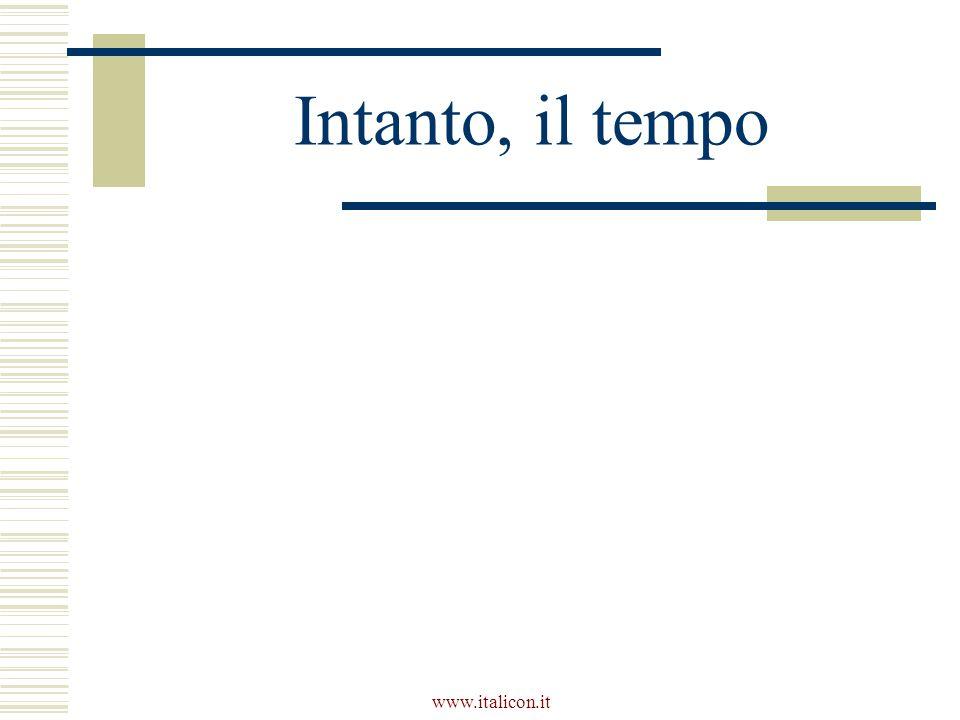 www.italicon.it Intanto, il tempo