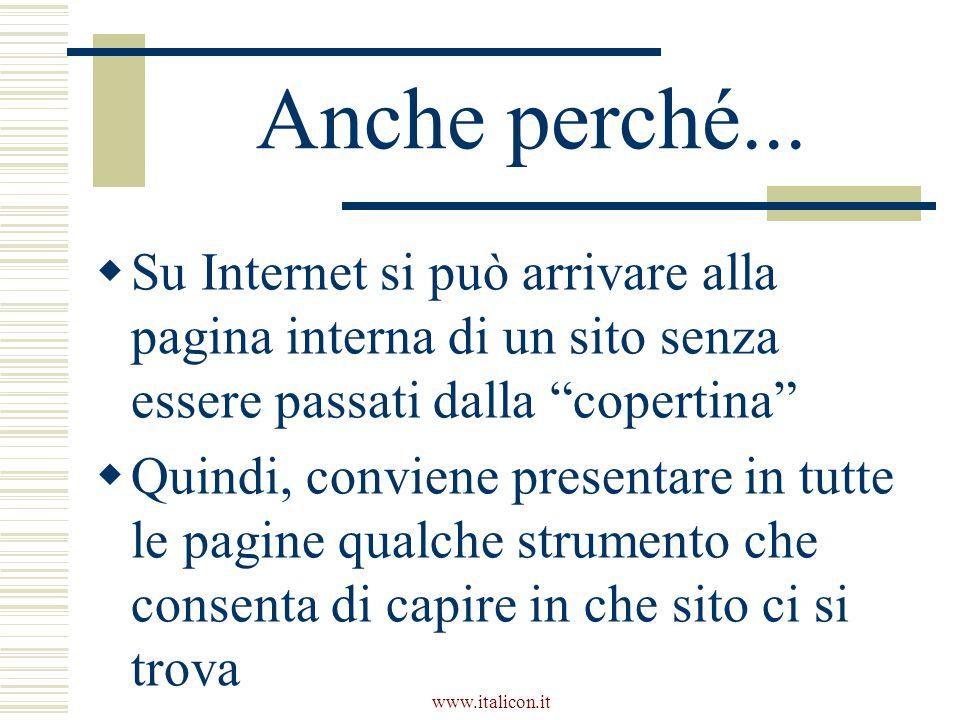 www.italicon.it Anche perché...