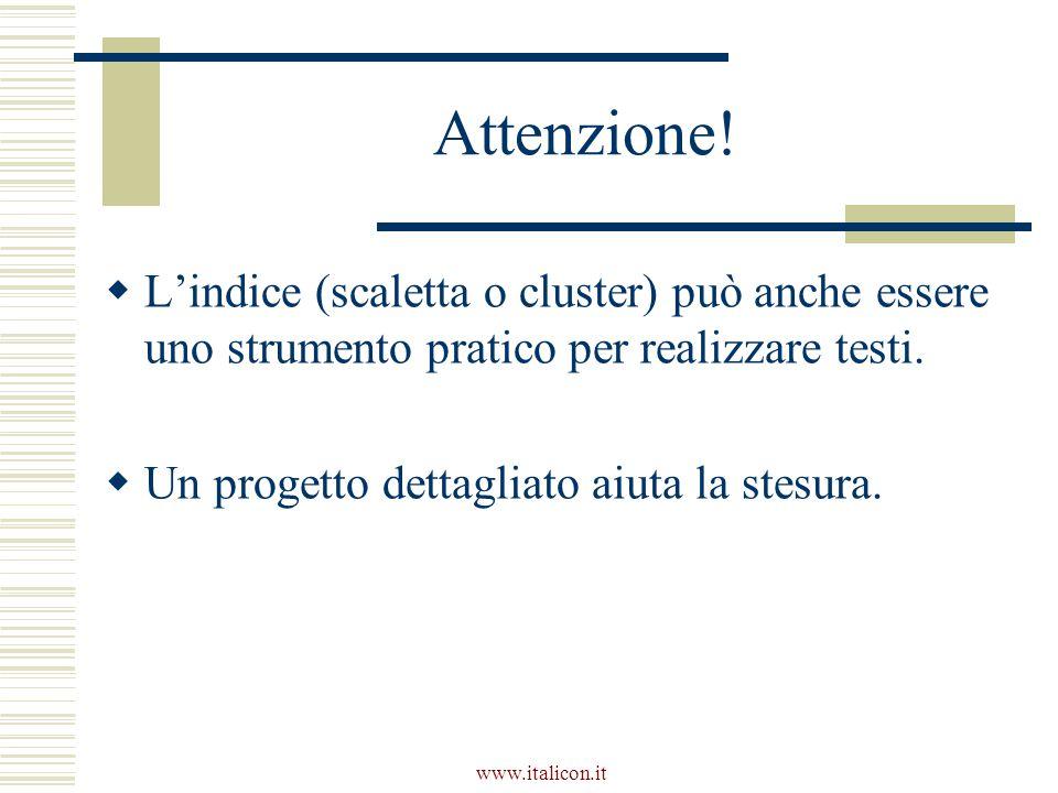 www.italicon.it Attenzione.