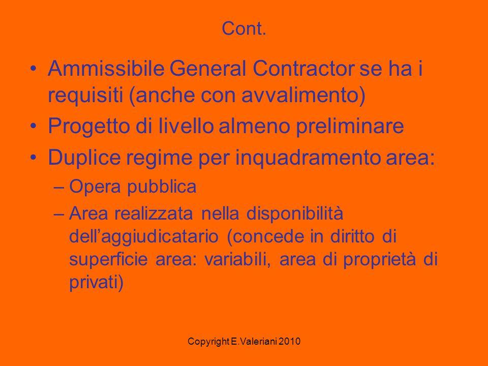 Copyright E.Valeriani 2010 Cont.