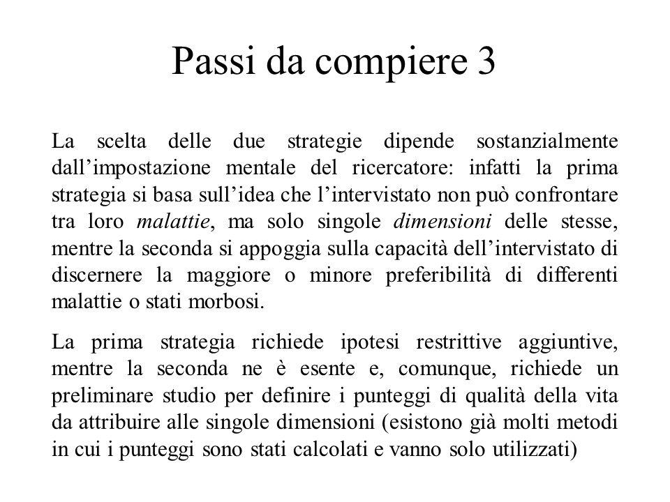 Seconda strategia- Fase 3 Fase 3: Per calcolare i punteggi, col gioco standard, se con una probabilità si sceglie un'alternativa, mentre con quella successiva se ne sceglie un'altra, il punteggio è a metà tra le due probabilità.