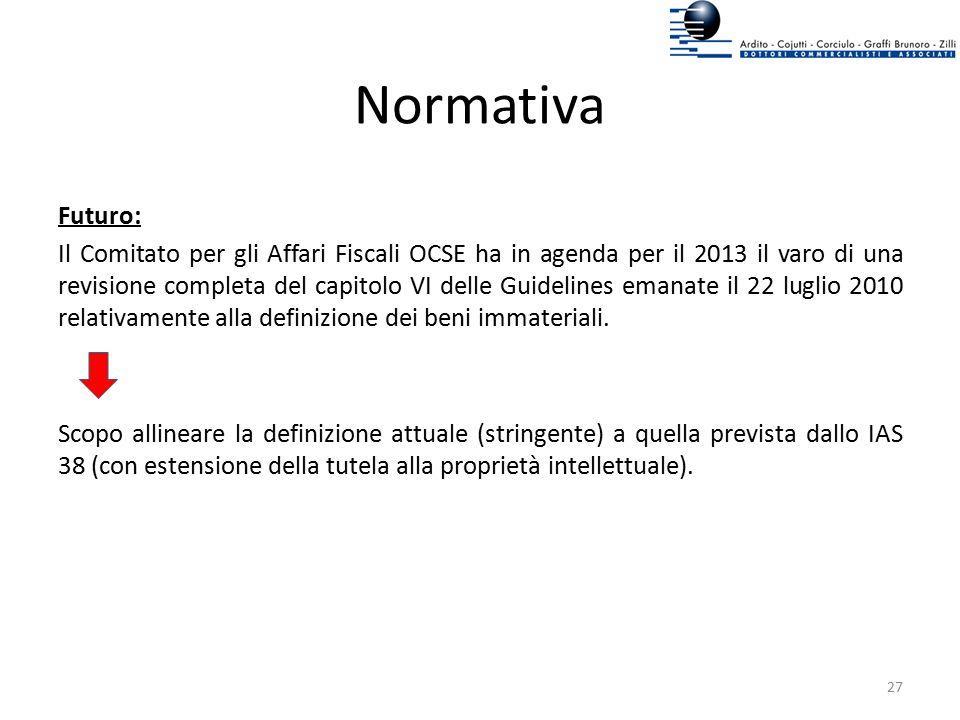 Normativa Futuro: Il Comitato per gli Affari Fiscali OCSE ha in agenda per il 2013 il varo di una revisione completa del capitolo VI delle Guidelines