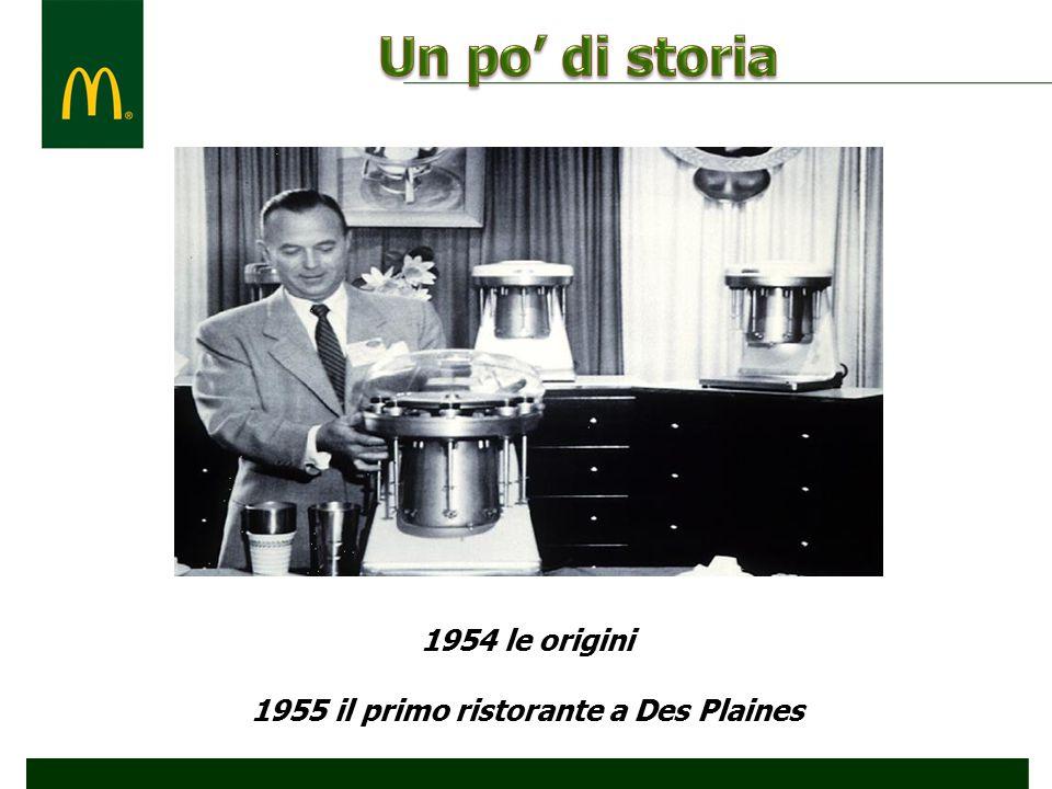 1954 le origini 1955 il primo ristorante a Des Plaines
