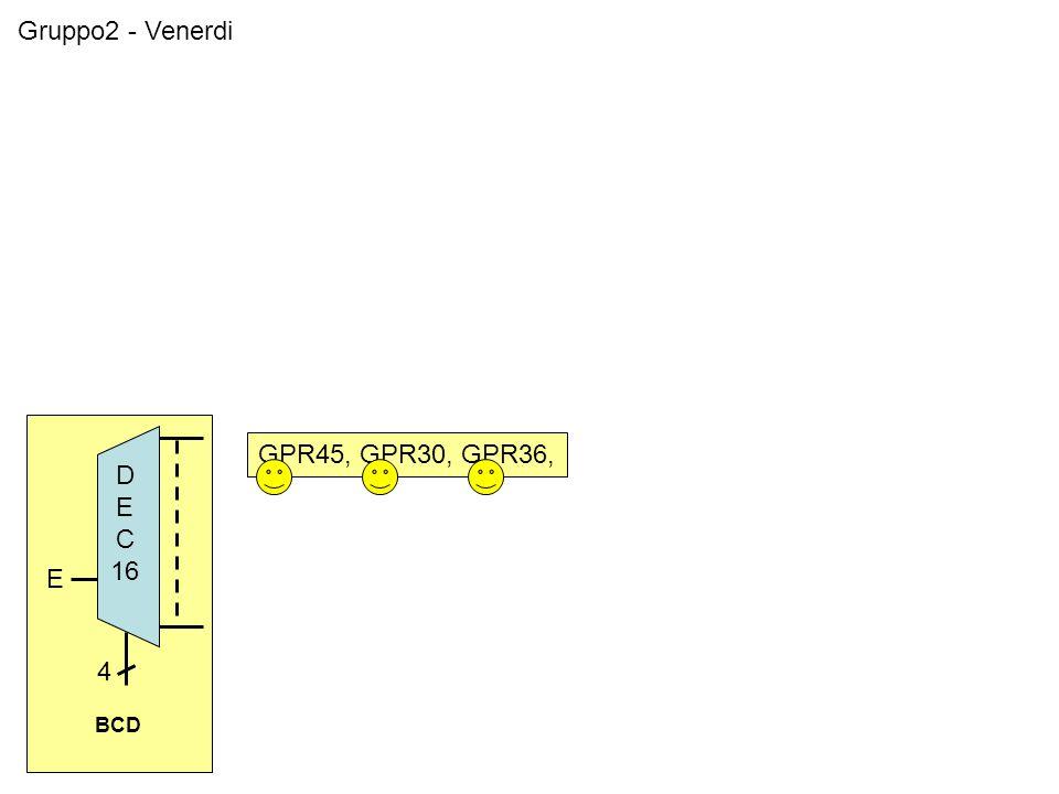 Gruppo2 - Venerdi GPR45, GPR30, GPR36, BCD 4 D E C 16 E