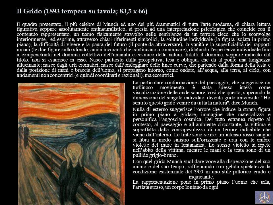 Autoritratto All'Inferno (1895 circa olio su tela; 81,5 x 65,5 Oslo, Munch Museet) Questa opera ci consente di esaminare da vicino le nuove scelte sti