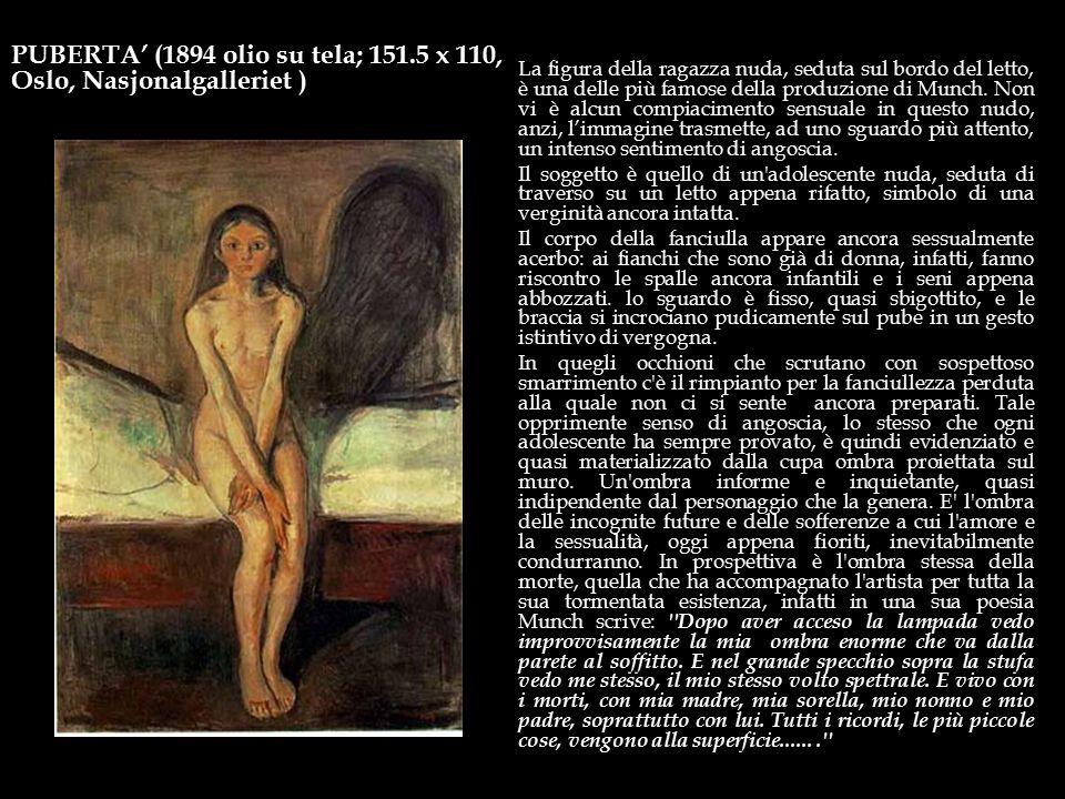 Il Grido (1893 tempera su tavola; 83,5 x 66) La particolare conformazione del paesaggio, che suggerisce un turbinoso movimento, è stata spesso intesa