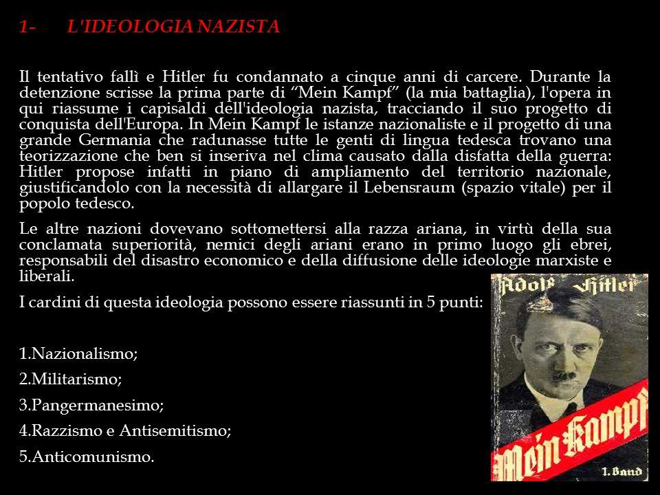 """Il termine Nazionalsocialismo, più spesso abbreviato in """"nazismo"""", designa la dottrina politica che dava contenuto ideologico al National Sozialistisc"""