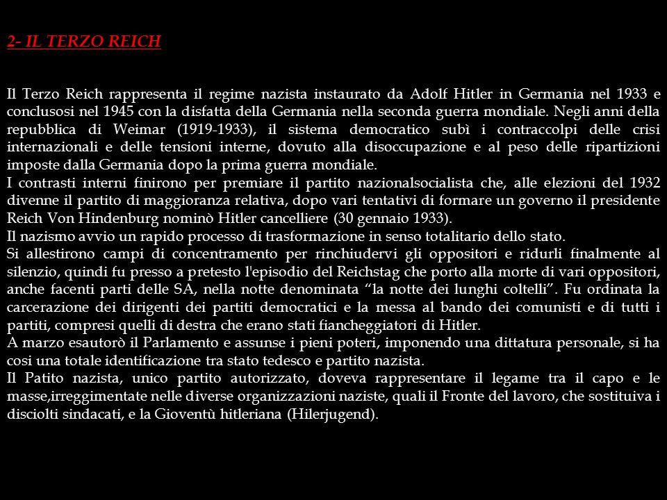 IL NSDAP AL PARLAMENTO Una volta rilasciato, Hitler riorganizzò il partito, creò; il corpo armato delle SS (Schutz-Staffeln, squadre di difesa), diret