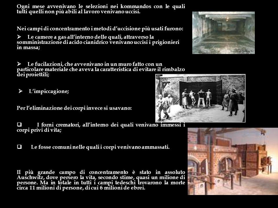I lager nazisti. In Germania i nazisti istituirono i Konzentrazionslager dove la polizia politica rinchiuse oppositori politici ed ebrei; inoltre la p