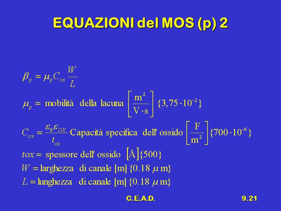 C.E.A.D.9.21 EQUAZIONI del MOS (p) 2