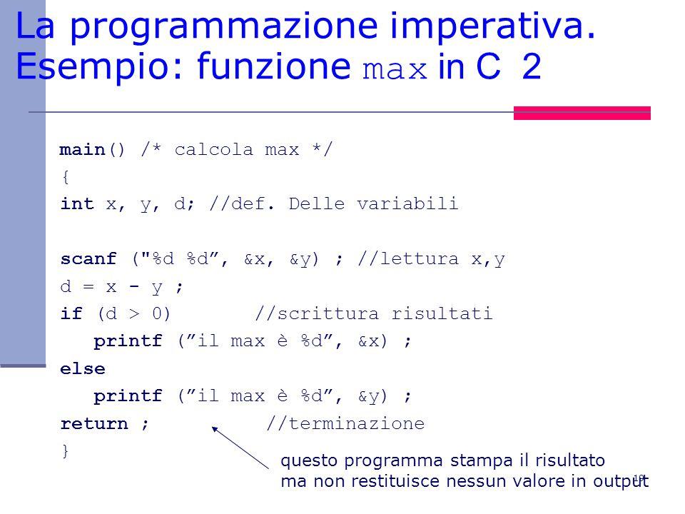 19 La programmazione imperativa.