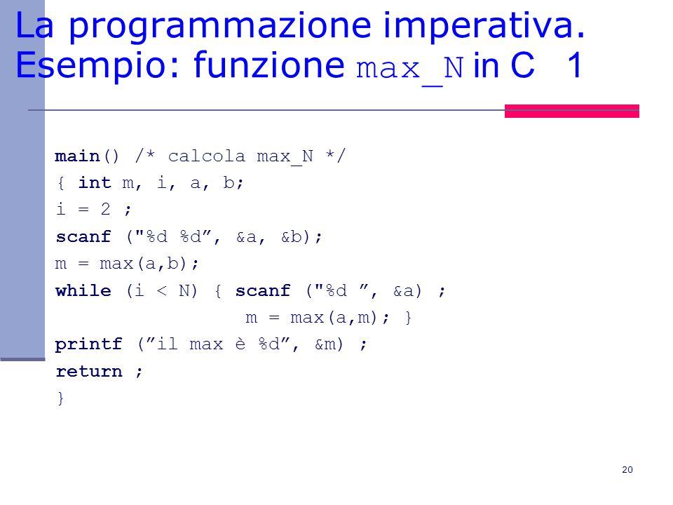 20 La programmazione imperativa.