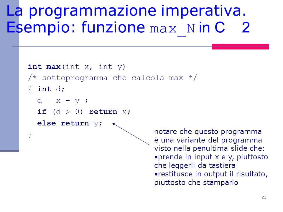21 La programmazione imperativa.