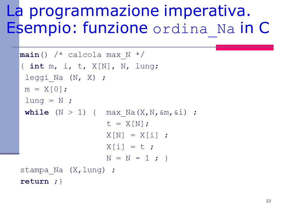 23 La programmazione imperativa.