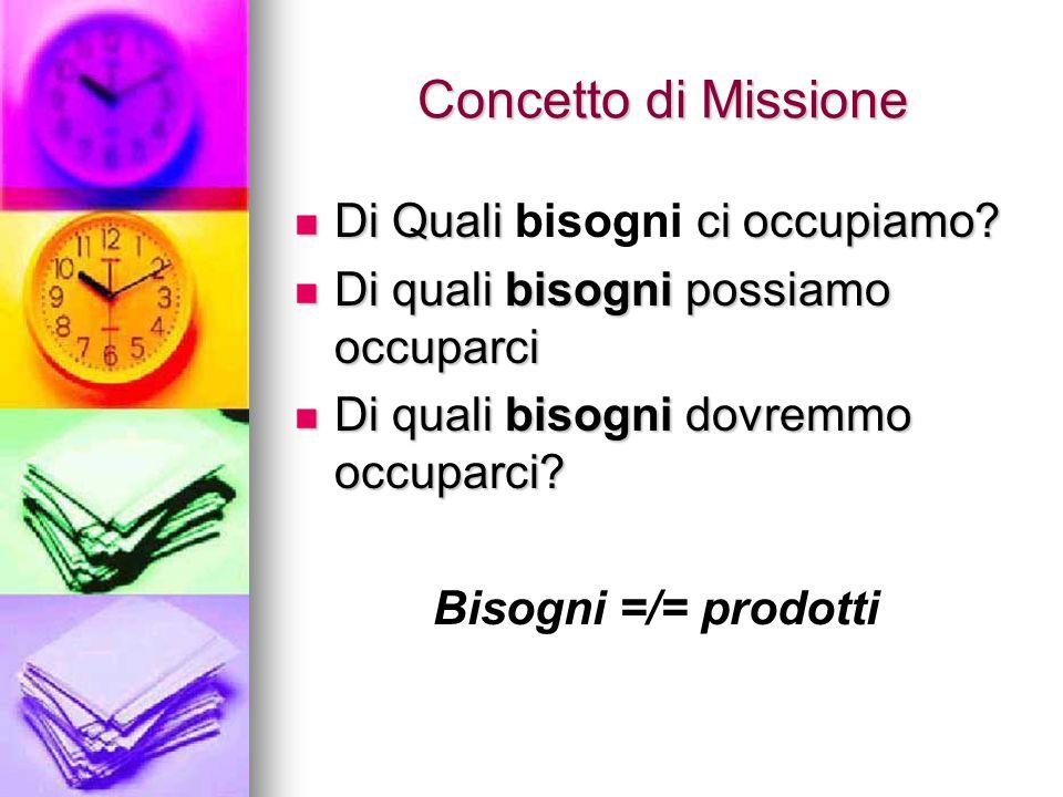 Concetto di Missione Concetto di Missione Di Quali ci occupiamo.