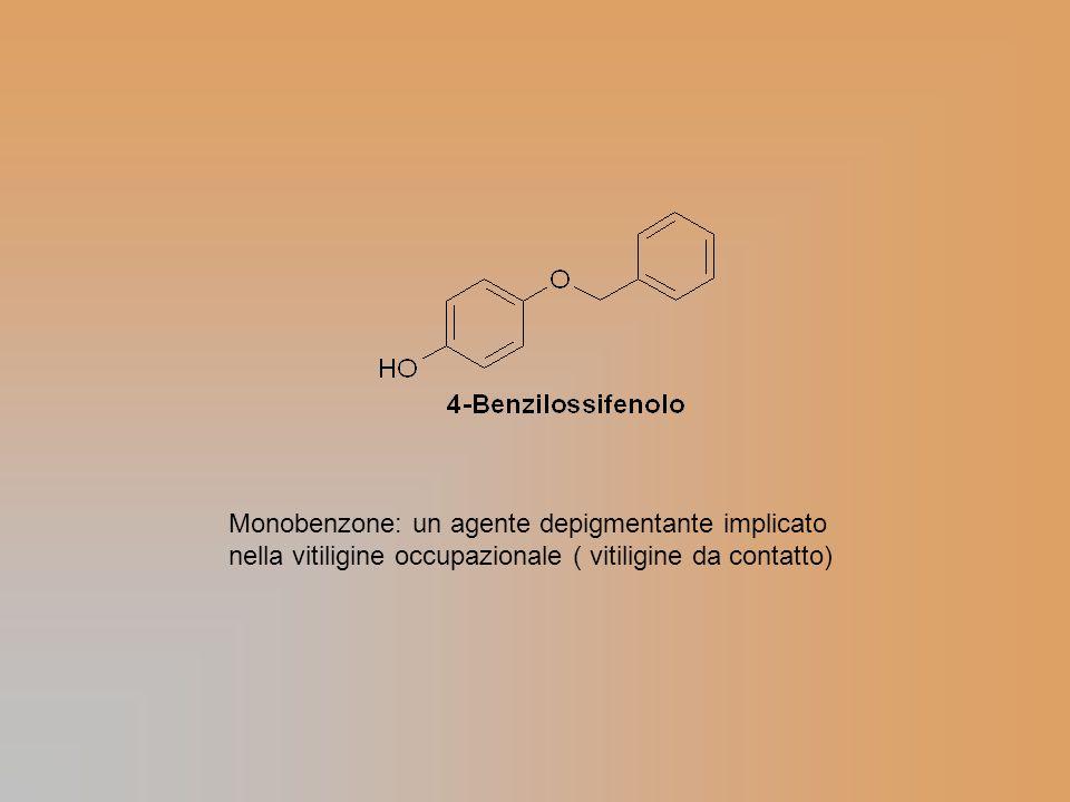 Monobenzone: un agente depigmentante implicato nella vitiligine occupazionale ( vitiligine da contatto)