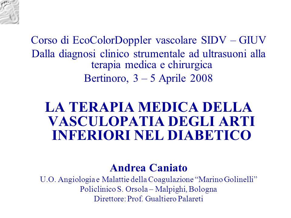 Corso di EcoColorDoppler vascolare SIDV – GIUV Dalla diagnosi clinico strumentale ad ultrasuoni alla terapia medica e chirurgica Bertinoro, 3 – 5 Apri