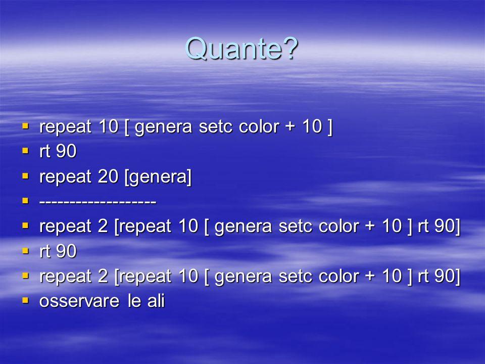 Altre figure  repeat 36 [repeat 3 [hatch [setc who] fd 1]]  rt 10 ( poi 30, 90 )  repeat 36 [repeat 3 [hatch [setc who] fd 1]]  ------------------  repeat 36 [repeat 3 [hatch [setc who] fd 1] rt 10]