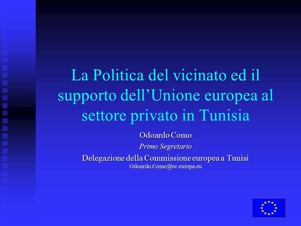La Politica del vicinato ed il supporto dell'Unione europea al settore privato in Tunisia Odoardo Como Primo Segretario Delegazione della Commissione