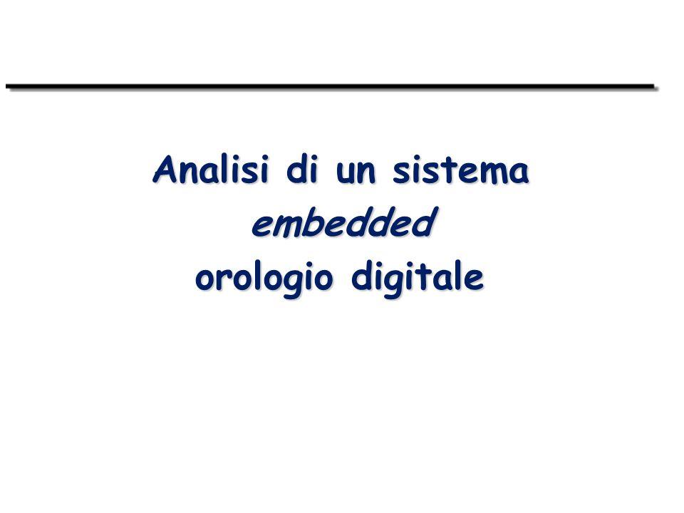 Analisi di un sistema embedded orologio digitale