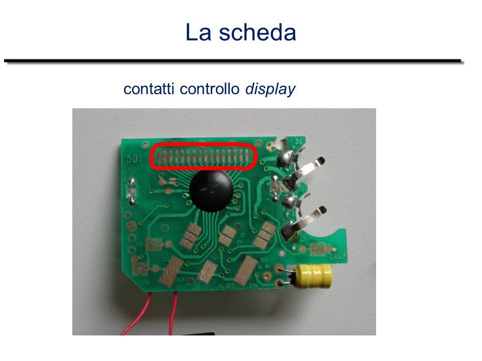 La scheda contatti controllo display