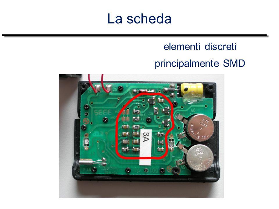 La scheda elementi discreti principalmente SMD