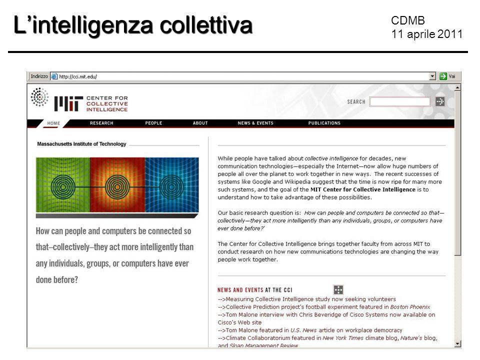CDMB 11 aprile 2011 L'intelligenza collettiva