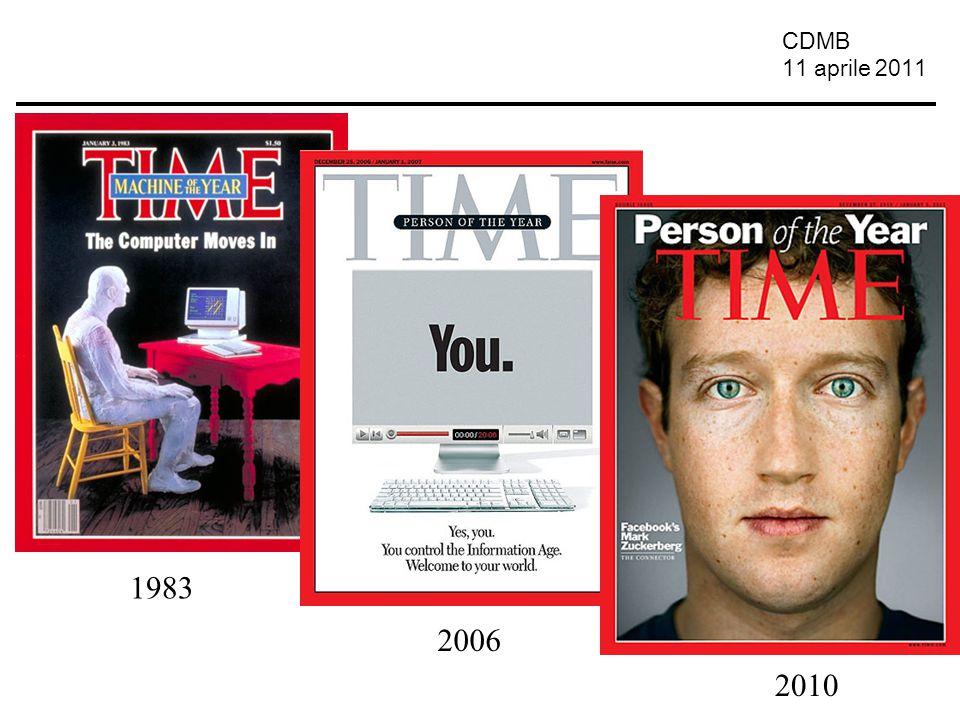 CDMB 11 aprile 2011 Le comunità Centrate sui media Centrate sulle persone