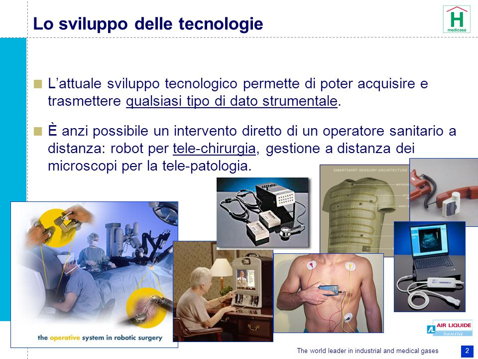 The world leader in industrial and medical gases 2 Lo sviluppo delle tecnologie L'attuale sviluppo tecnologico permette di poter acquisire e trasmettere qualsiasi tipo di dato strumentale.