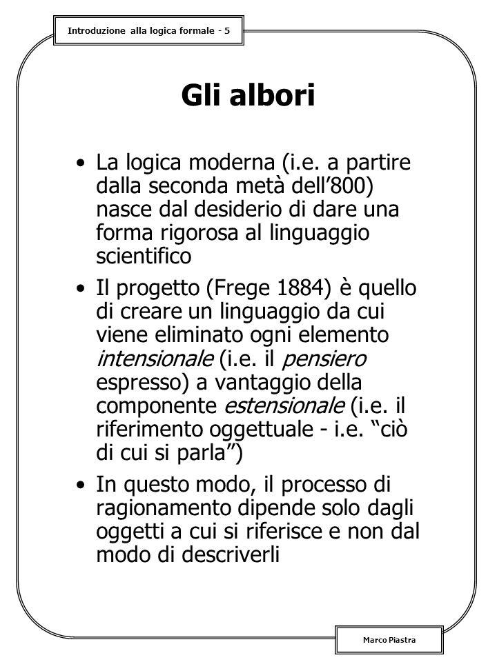 Introduzione alla logica formale - 5 Marco Piastra Gli albori La logica moderna (i.e.