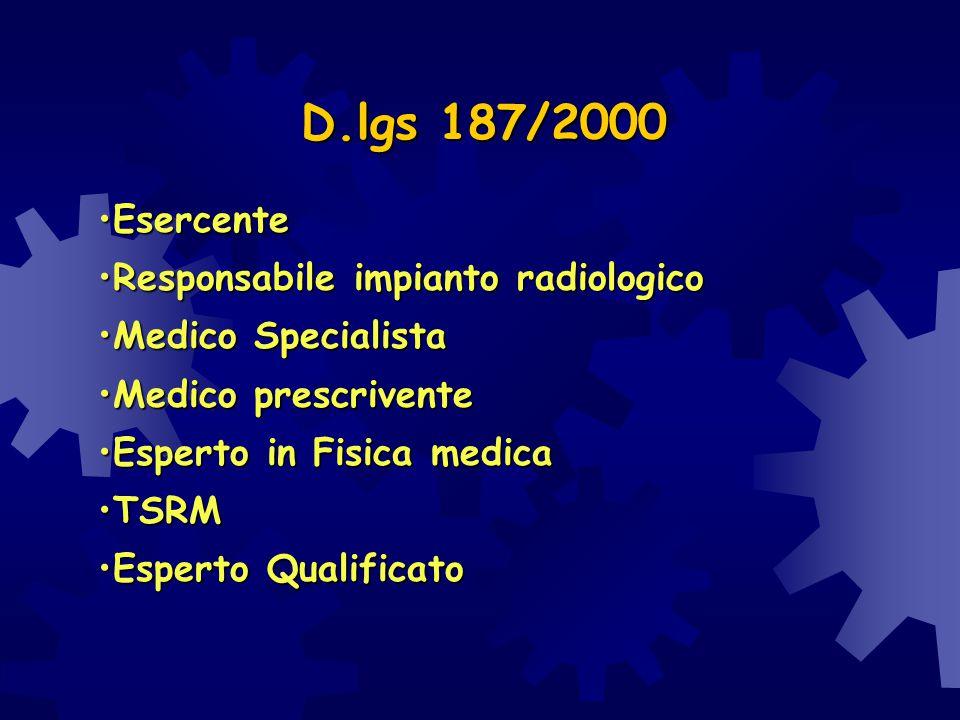 EsercenteEsercente Responsabile impianto radiologicoResponsabile impianto radiologico Medico SpecialistaMedico Specialista Medico prescriventeMedico p