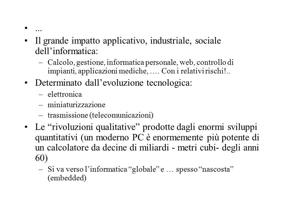 I caratteri ASCII (American Standard Code for Information Interchange): sette bit usati per rappresentare 128 caratteri (ottavo per controllo).