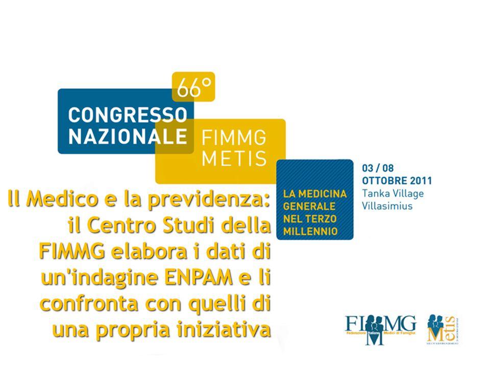 ll Medico e la previdenza: il Centro Studi della FIMMG elabora i dati di un indagine ENPAM e li confronta con quelli di una propria iniziativa