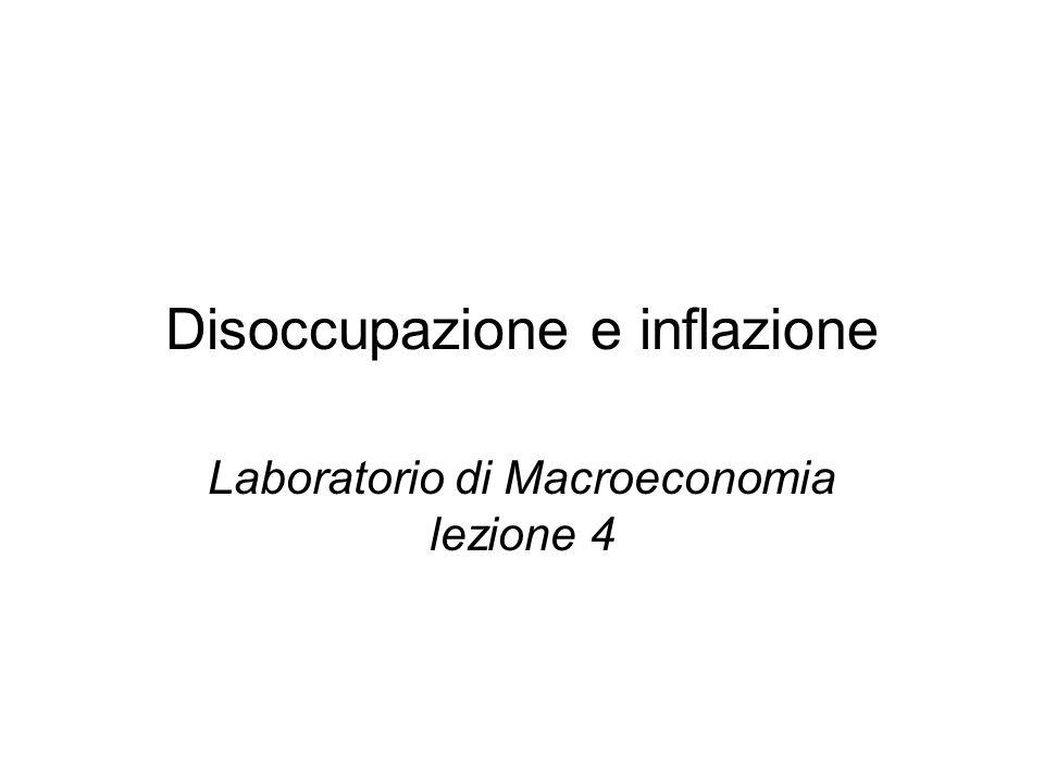 Disoccupazione e inflazione Laboratorio di Macroeconomia lezione 4