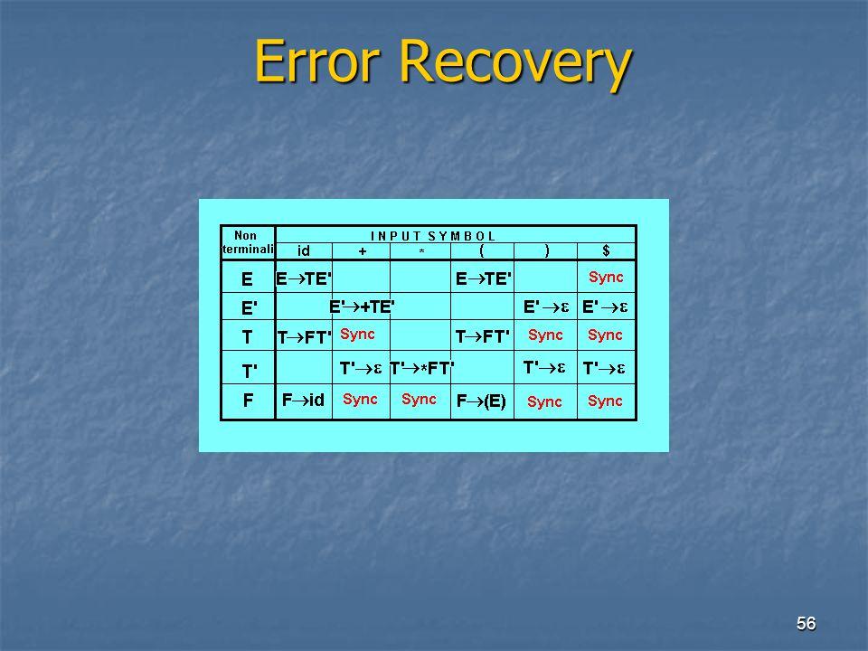 56 Error Recovery Error Recovery