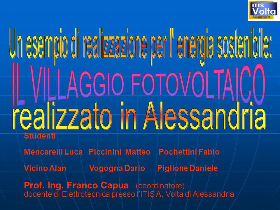 Studenti Mencarelli Luca Piccinini Matteo Pochettini Fabio Vicino Alan Vogogna Dario Piglione Daniele Prof.