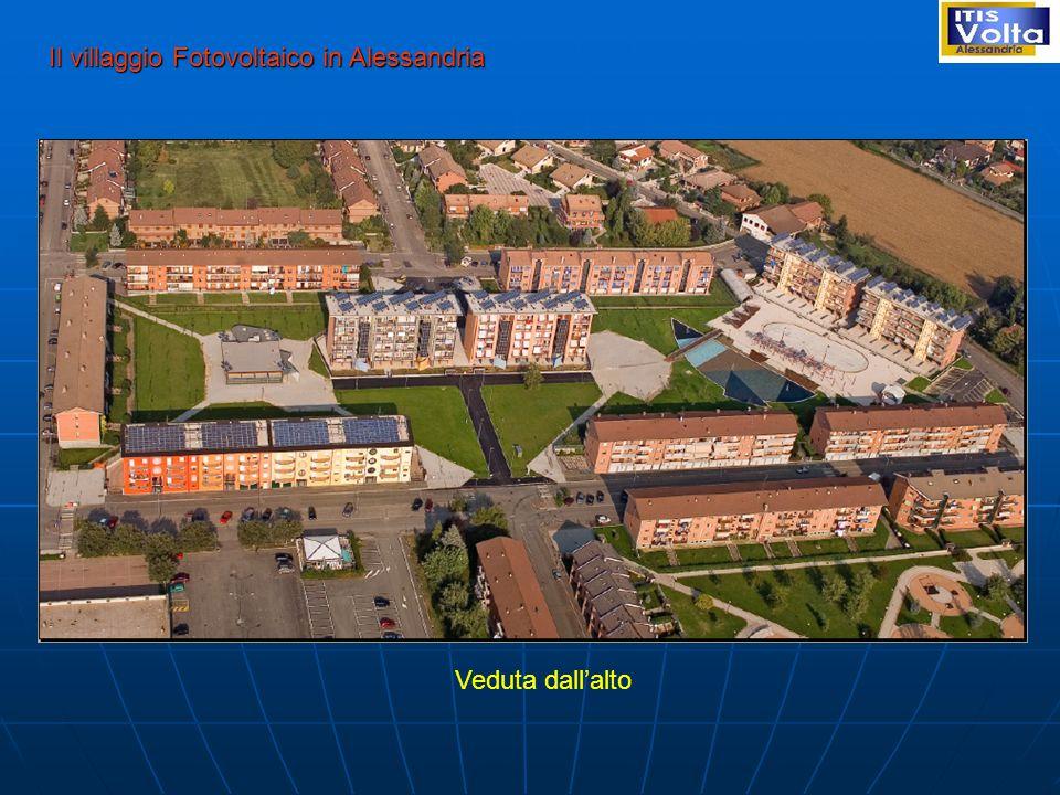 Il villaggio Fotovoltaico in Alessandria Veduta dall'alto