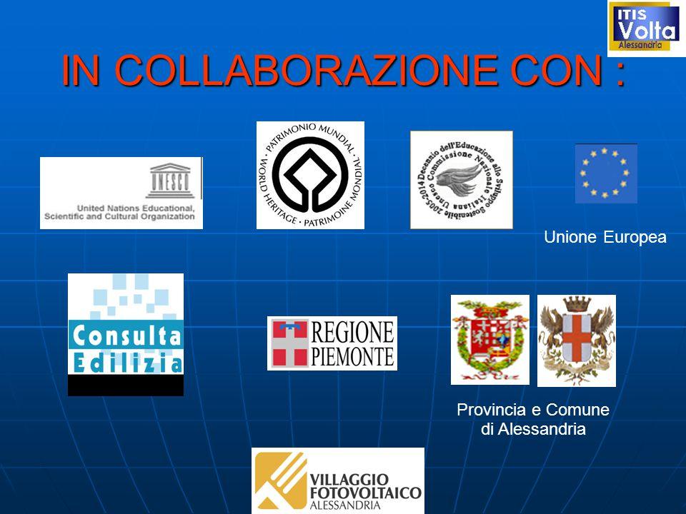 IN COLLABORAZIONE CON : Provincia e Comune di Alessandria Unione Europea