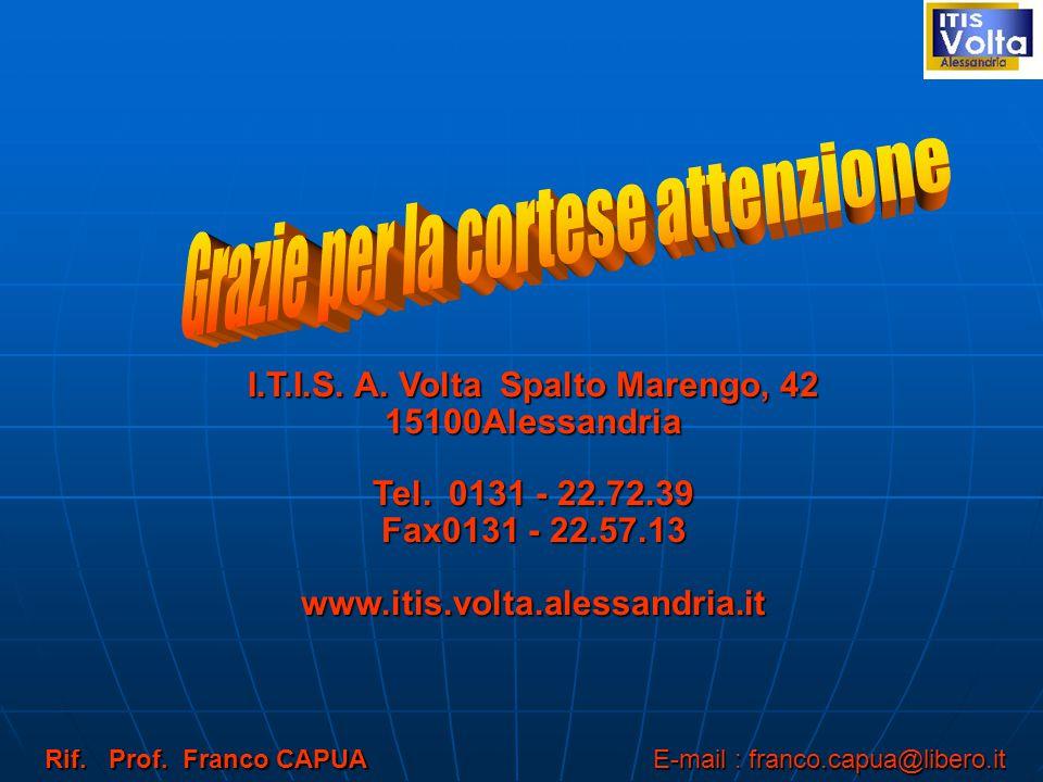 I.T.I.S.A. Volta Spalto Marengo, 42 15100Alessandria Tel.