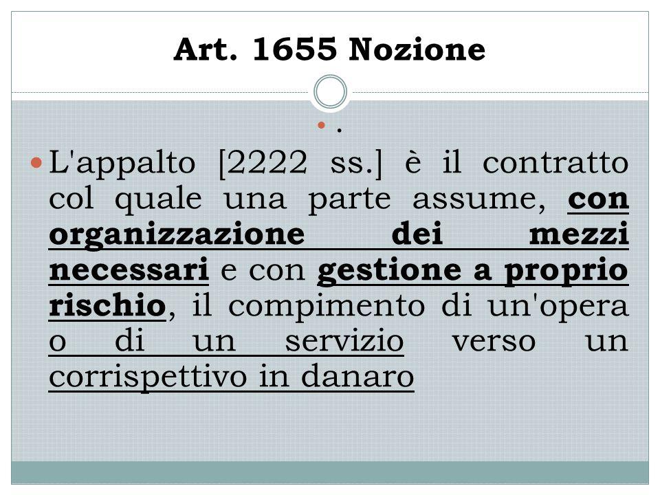 Art. 1655 Nozione.
