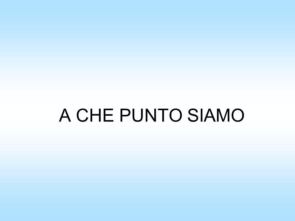 A CHE PUNTO SIAMO