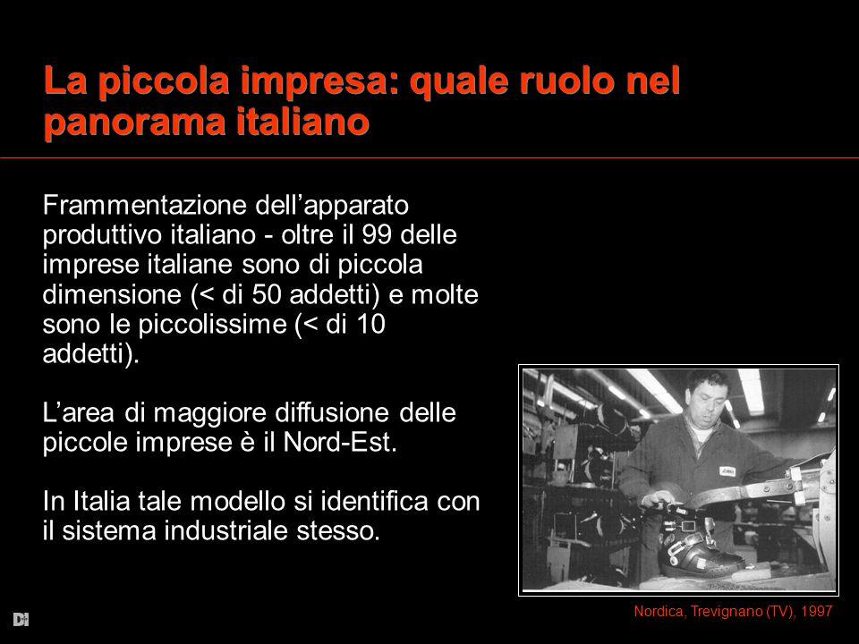 La piccola impresa: quale ruolo nel panorama italiano Frammentazione dell'apparato produttivo italiano - oltre il 99 delle imprese italiane sono di pi
